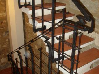 Kované zábradlí v Jindřišské věži